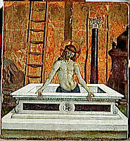 Dead Christ at the tomb, 1473, perugino