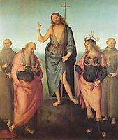 John the Baptist and four saints, 1510, perugino