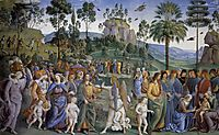 Journey of Moses and circumcision of her second child, 1483, perugino