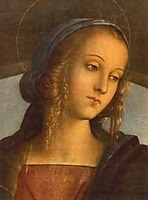 The Madonna between St. John the Baptist and St. Sebastian (detail 1), 1493, perugino