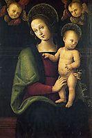 Madonnaand Child withtwocherubs, 1495, perugino