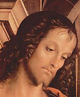 MadonnaEnthronedwithSt. JohntheTuferandSt. Sebastian (detail), 1493, perugino