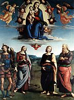 Madonna in Glory with the Child and Saints, 1496, perugino