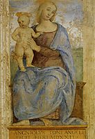Madonna with Child. Oratory of Annunciation, 1522, perugino