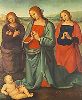 Madonna with saints adoring the child, 1503, perugino