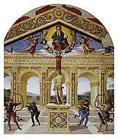 Martyrdom of St. Sebastian, 1505, perugino