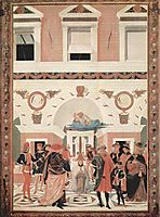 The Miracles of San Bernardino. The Healing of the blind and deaf Riccardo Micuzio, 1473, perugino