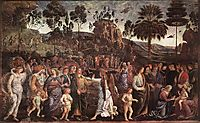 Moses-s Journey into Egypt, c.1482, perugino