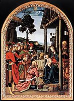 Moses-s Journey into Egypt and the Circumcision of His Son Eliezer (detail), 1482, perugino