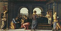 Pala diFano(Nativityof Mary), 1497, perugino