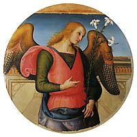 Pala di Sant Agostino (Arcangel Gabriel), 1523, perugino