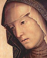Pieta. Maria (detail), 1495, perugino