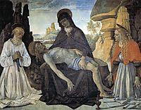 Pieta with St. Jerome and Santa Maria Magdalena, 1473, perugino