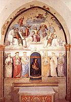Trinity and Six Saints, 1521, perugino