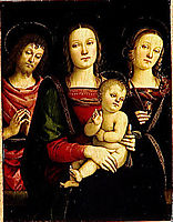 Virgin and Child between Sts John the Baptist and Catherine, 1500, perugino