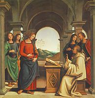 The vision of St. Bernard, 1493, perugino