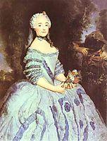 The Actress Babette Cochois, 1750, pesne