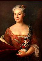 Countess Friederike von Ansbach , 1756, pesne