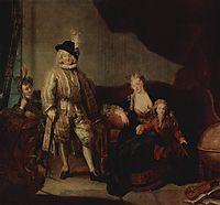 Family Portrait of Baron von Erlach, 1711, pesne
