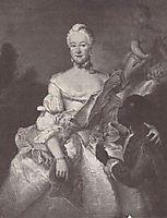 Henriette Karoline von Pfalz Zweibrücken, Landgrave of Hesse Darmstadt, with the Moor, pesne