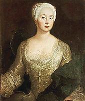 Louise Eleonore von Wreech, 1737, pesne