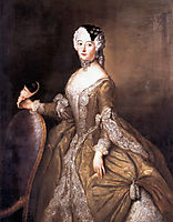 Luise Ulrike of Prussia, Queen of Sweden, c.1744, pesne