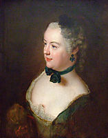 Portrait of an unknown woman, c.1750, pesne