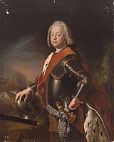 Portrait of Christian August, Prince of Anhalt Zerbst, father of Catherine II of Russia., 1725, pesne