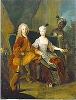 Portrait of the crown prince Friedrich Ludwig of Württemberg and his wife Henriette Marie of Brandenburg Schwedt, c.1716, pesne
