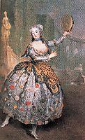 Portrait of the dancer Barbara Campanini aka La Barbarina, c.1745, pesne
