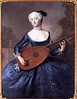 Portrait of Eleonore Louise Albertine, Comtesse von Schlieben-Sanditten, Freifrau von Keyserlingk, wife of Dietrich Cesarion, c.1745, pesne