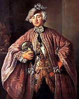 Portrait of Isaak Franz Egmont von Chasot, pesne