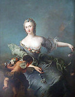 Portrait of Louise Albertine von Grappendorf as Flora, c.1750, pesne