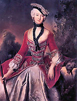 Portrait of Sophie Marie Gräfin Voss, c.1746, pesne