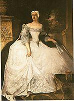Portrait of Teofila Działyńska, 1754, pesne