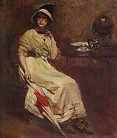 Retrato de Mª Cristina Bordalo Pinheiro, 1912, pinheiro