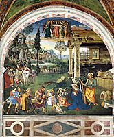 The Adoration of the Shepherds, 1501, pinturicchio
