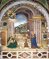The Annunciation, 1501, pinturicchio