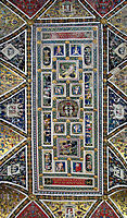 Ceiling of the Piccolomini Library in Siena Cathedral, 1507, pinturicchio