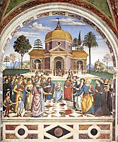 Christ among the Doctors, 1501, pinturicchio