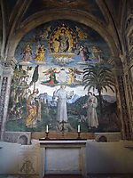 The Glory of St. Bernardino, 1486, pinturicchio
