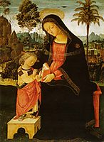 Madonna with Writing Child, 1498, pinturicchio