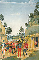 Saint Bernardino Releases a Prisoner, 1473, pinturicchio