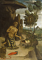 Saint Jerome in the Wilderness, 1480, pinturicchio
