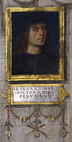 Self-portrait in the Baglioni Chapel, 1501, pinturicchio