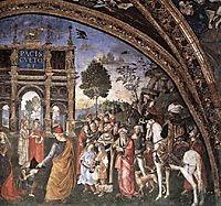 St Catherine-s Disputation (detail), 1494, pinturicchio