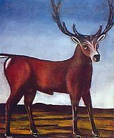 Antlered deer, pirosmani