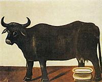 Black Buffulo on a White Background, pirosmani