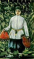 A Boy Carrying Food, pirosmani
