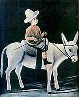 A boy on a donkey, pirosmani